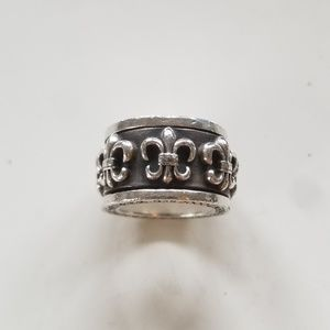 Chrome Hearts Fleur Spinning Ring